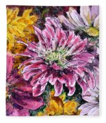 Flowers Of Love Fleece Blanket