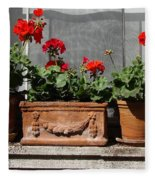 Flowers Of New York Fleece Blanket