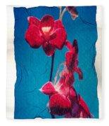Flowers On Watercolor Paper Fleece Blanket