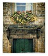 Flowers Over Doorway Fleece Blanket