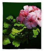 Flowers - Pale Pink Geranium Fleece Blanket