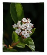 Flowers-tiny White Fleece Blanket