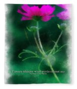 Flowers Whisper 01 Fleece Blanket