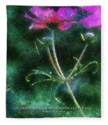 Flowers Whisper 02 Fleece Blanket