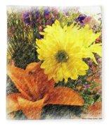 Flowers With Love Fleece Blanket