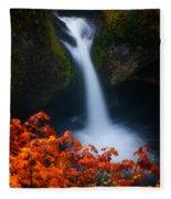 Flowing Into Fall Fleece Blanket