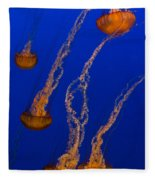 Flowing Pacific Sea Nettles 3 Fleece Blanket