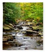 Flowing Stream Fleece Blanket