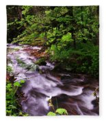 Flowing Through The Forest Fleece Blanket