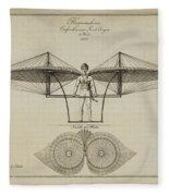 Flugmashine Patent 1807 Fleece Blanket