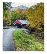 Flume Gorge Covered Bridge Fleece Blanket