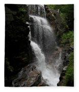 Flume Gorge Waterfall Nh Fleece Blanket