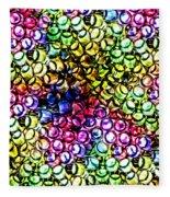 Fluorescent Straws Fleece Blanket