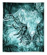 Fly Away Gothic Aqua Fleece Blanket
