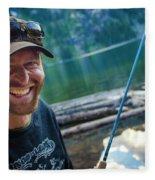Fly Fishing Emerald Lake, Weminuche Fleece Blanket