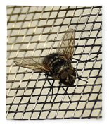 Fly From The Series The Imprint Of Man In Nature Fleece Blanket