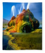Fly Geyser Travertine Fleece Blanket