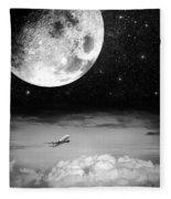 Fly Me To The Moon Fleece Blanket