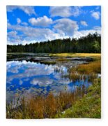 Fly Pond In The Adirondacks II Fleece Blanket