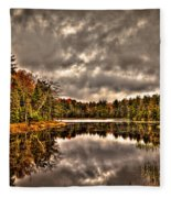Fly Pond Marsh II Fleece Blanket