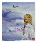 Fly With Us Fleece Blanket