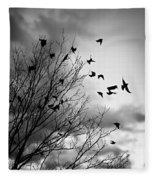 Flying Birds Fleece Blanket