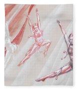 Flying Dancers  Fleece Blanket