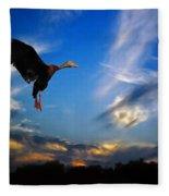 Flying Duck Fleece Blanket