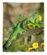 Flying Green Violetear Fleece Blanket