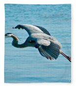 Flying Heron Fleece Blanket