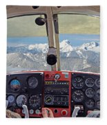 Flying Over North Cascades Fleece Blanket