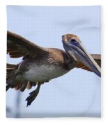 Flying Pelican Panorama Fleece Blanket
