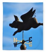 Flying Pig Fleece Blanket