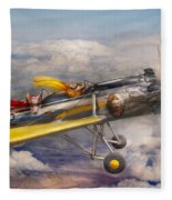 Flying Pig - Plane - The Joy Ride Fleece Blanket