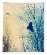 Flying Retro Fleece Blanket