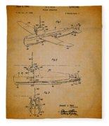Flying Submarine Patent Fleece Blanket