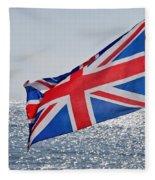 Flying The British Flag Fleece Blanket