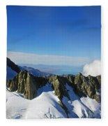 Flying To Fox Glacier #2 Fleece Blanket