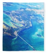 Flying To Key West Fleece Blanket