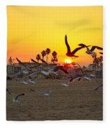 Flying To The Rising Sun Fleece Blanket
