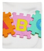 Foam Alphabet Shapes Fleece Blanket
