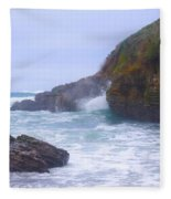 Foam In The Fog Fleece Blanket
