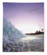 Foam Wall Fleece Blanket by Sean Davey