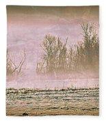 Fog Abstract 2 Fleece Blanket