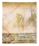 Fog Abstract 4 Fleece Blanket