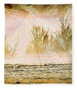 Fog Abstract 5 Fleece Blanket