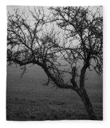 Fog And Solitude Fleece Blanket