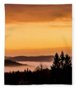 Fog Below Fleece Blanket