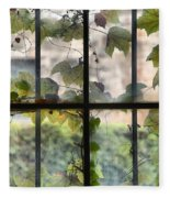 Fog Ivy And Plate Glass Fleece Blanket