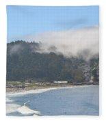 Fog On Pedro Point Fleece Blanket